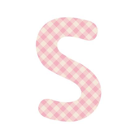 alphabet s: Cuadrados de color rosa patr�n alfabeto S para el dise�o