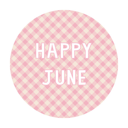 Happy June card for decoration