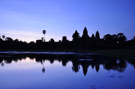 Angkor Wat temple at sunrise, Siem Reap, Cambodia photo