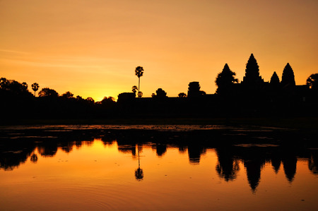 Angkor Wat temple at sunrise, Siem Reap, Cambodia photo