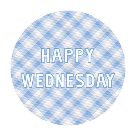 wednesday: Happy Wednesday card for decoration. Illustration