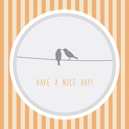 Have a nice day. Card for decoration.