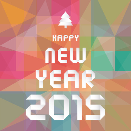 Card for Happy New Year 2015.