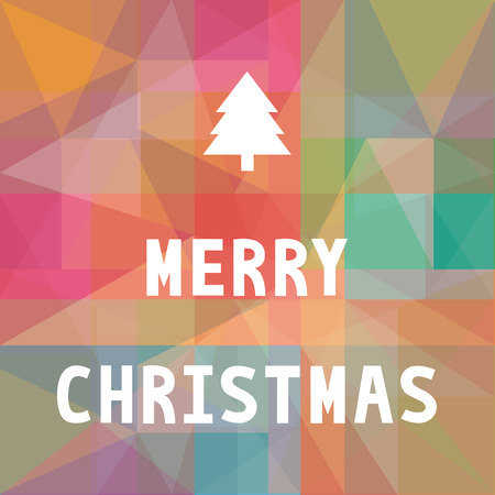 Colorful card for Merry Christmas.