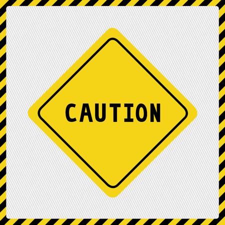 caution sign: Cautela segno su sfondo bianco.