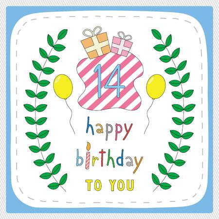 Happy Birthday Karte Mit 3 Geburtstag Und Für 3 Jahre