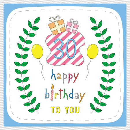 0 30th Birthday Stock Illustrations, Cliparts And Royalty Free ...