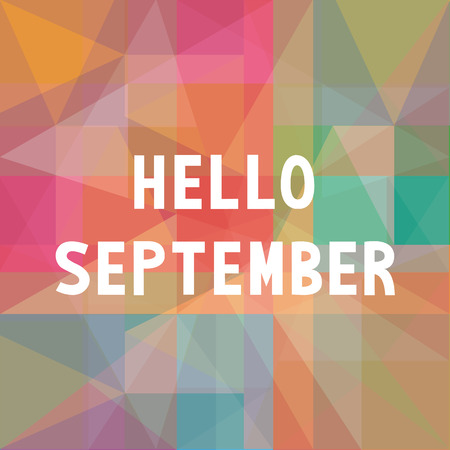 Hello September card for greeting.