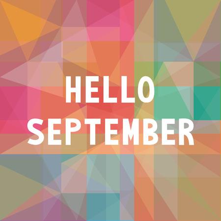Witam karta września dla powitania. Ilustracje wektorowe