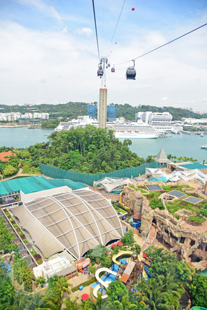 SINGAPORE - JANUARY 5 : Day view of Sentosa island on January 5, 2015 in Sentosa, Singapore. Sentosa is a popular island resort in Singapore with more than 5 million visitors per year.