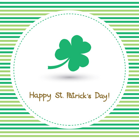 Card for happy Saint Patrick s Day. Illustration