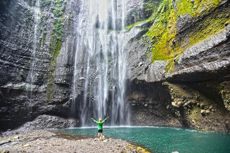 waterfall: Madakaripura Waterfall in East Java, Indonesia.