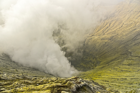 tengger: Crater of Mount Bromo volcano in Bromo Tengger Semeru National Park, East Java, Indonesia