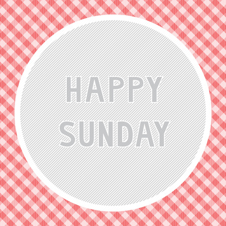 sunday: Happy Sunday background for decoration. Illustration