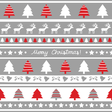 Seamless Christmas pattern for decoration. Illustration