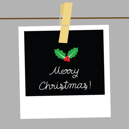 clasp: Merry Christmas card for decoration.