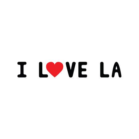 la: I love LA. Card for decoration.