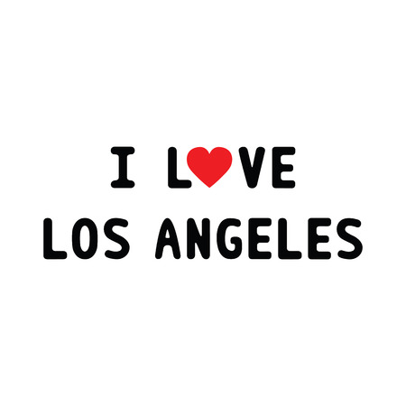 los: I love Los Angeles. Card for decoration.
