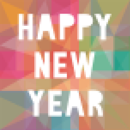 Happy new year on colorful background. Stock Photo