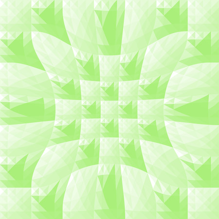 Green triangle and square pattern for background.