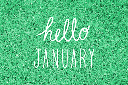 hello: Hello January greeting for decoration.