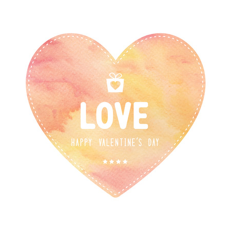yellow heart: Happy Valentine�s day lettering on red and yellow heart card.