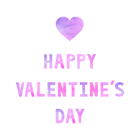 letting: Violet and pink Happy Valentine�s day letting on white background.