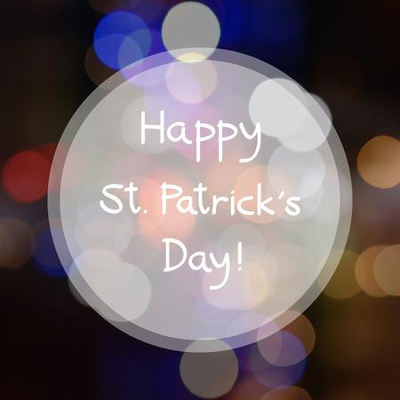 saint patrick   s day: Happy Saint Patrick s day on Bokeh background.