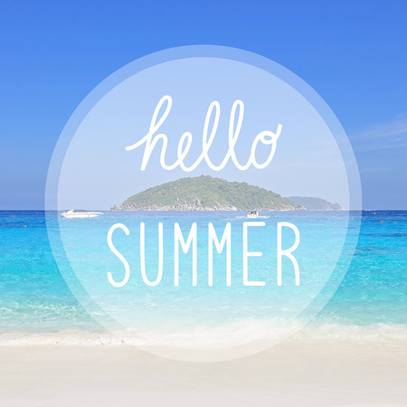 similan islands: Hello summer on sea view at Similan Islands, Phang Nga, Thailand Stock Photo