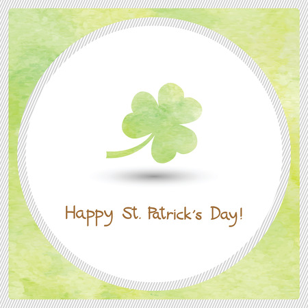 patrick s: Watercolor Shamrock for Happy Saint Patrick s day.