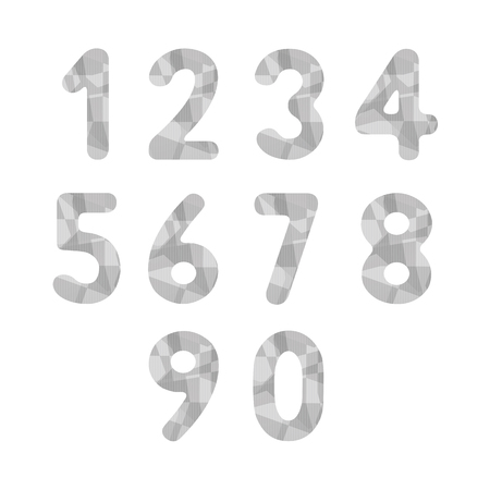 gray: Abstract gray numbers for design.