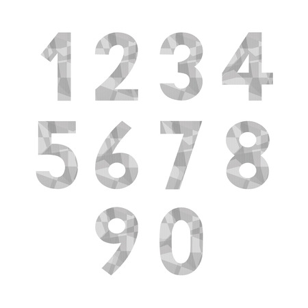 numbers abstract: Abstract gray numbers for design.