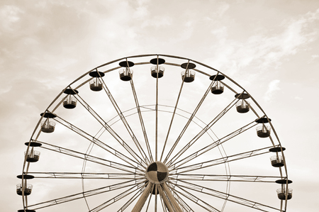 sepia toning: Ferris wheel in sepia toning.