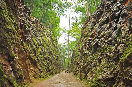 hellfire: Hellfire Pass in Kanchanaburi, Thailand - built during World War II.