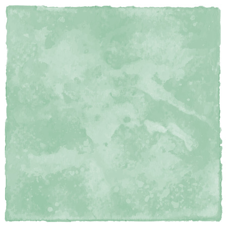 spat: Abstract green watercolor on white background. Stock Photo