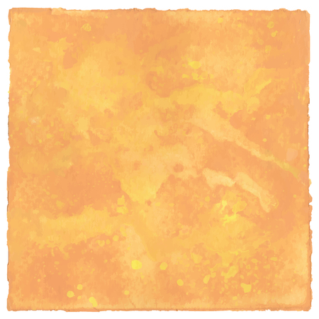 Abstract yellow and orange watercolor for background.