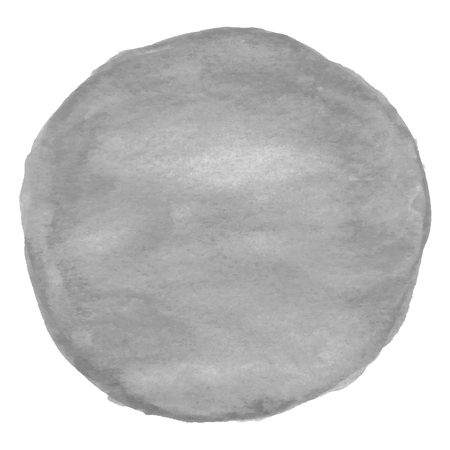 Gray round watercolor - space for your text.
