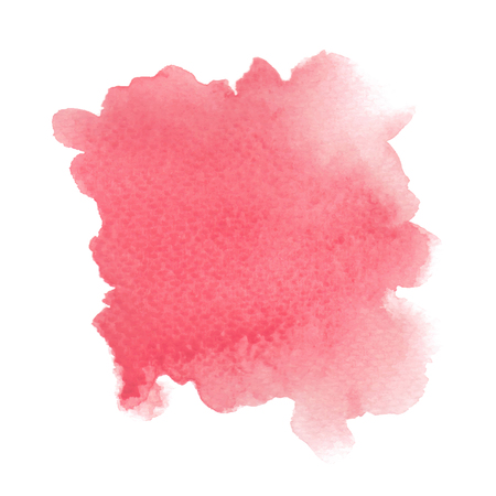 Abstract red watercolor on white background.