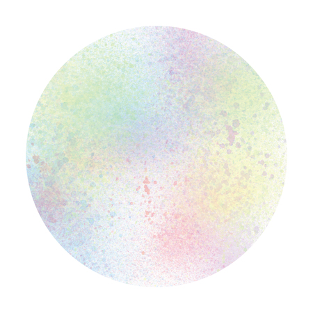 Pastel watercolor circle on white background.