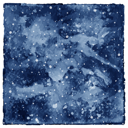 spat: Watercolor space galaxy on white background.