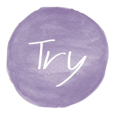 try: Try text on violet watercolor background.