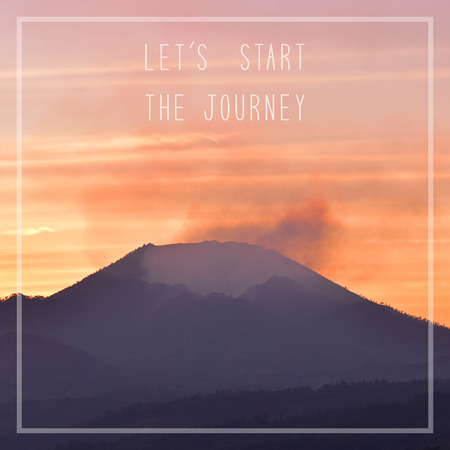 let s: Let s start the journey on sunrise view at Kawah Ijen crater in East Java, Indonesia.