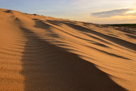 ne: White sand dunes at Mui Ne, Vietnam. Stock Photo