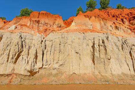 ne: Fairy Stream (Red river between rocks and jungle) in Mui Ne, Vietnam.