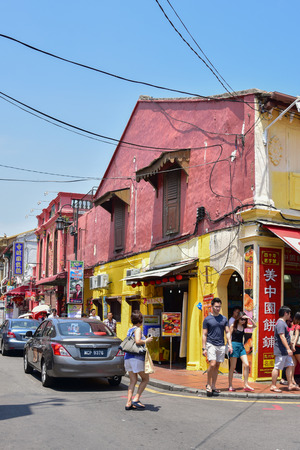 malaysia culture: MELAKA, MALAYSIA - AUGUST 01, 2015: Jonker Street is the centre street of Chinatown in Malacca. It was listed as a UNESCO World Heritage Site on 7 July 2008. Editorial