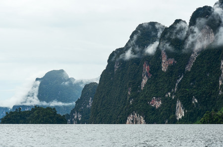 Mountains at Khao Sok National Park in Surattani, Thailand.