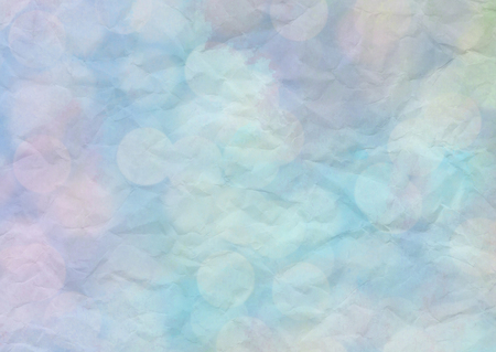 Bokeh light with pastel watercolor on crumpled paper.