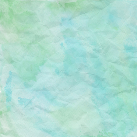 Blue and green crumpled paper for background.