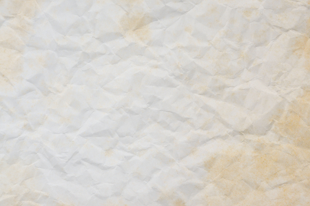 Texture of old crumpled paper for background. Stock Photo