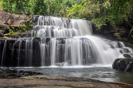 Pangsida Waterfall in Pangsida National Park, Sakaeo Province, Thailand.
